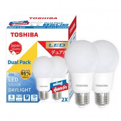 หลอดไฟ Toshiba LED Bulb 8W Dual Pack