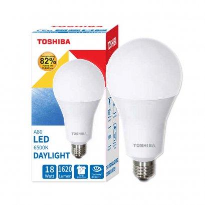 หลอดไฟ Toshiba LED Bulb A80 18W DL