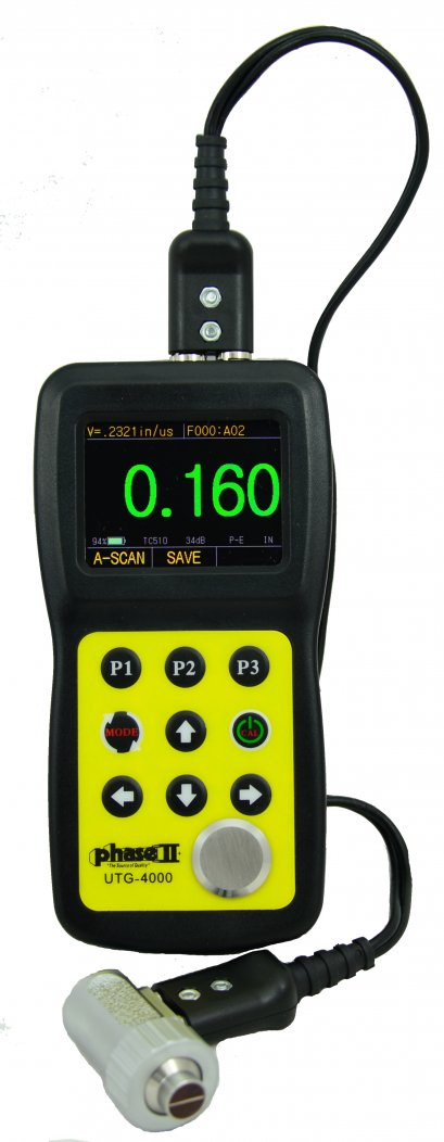 Ultrasonic Thickness Gauge w/A & B Scan and Thru Coating Capability(UTG-4000)