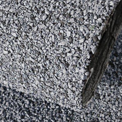 แผ่นกันซึมบิทูเทนเมมเบรน (Bituthane membrane) หน้าหินเกล็ด
