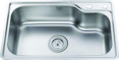 ซิงค์ล้างจานแบบฝัง สแตนเลส 1 หลุม รุ่น ST005