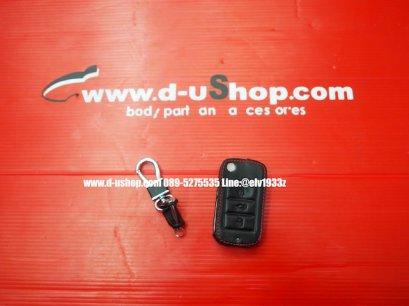 กระเป๋ากุญแจหนังดำด้ายแดงตรงรุ่น MG-ZS