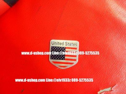 เพทโลโก้ United States สำหรับติดรถทุกรุ่น รุ่น5เหลี่ยม