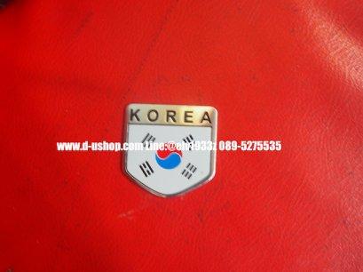 เพทโลโก้ธงชาติเกาหลี Korea สำหรับติดรถทุกรุ่น รุ่น5เหลี่ยม