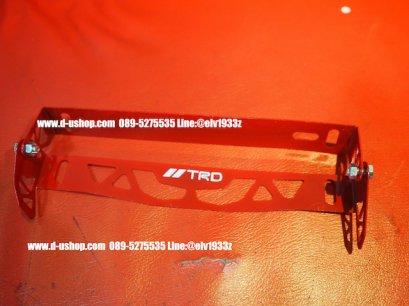 ป้ายทะเบียนพับองศา TRD สีแดงสำหรับรถทุกรุ่น