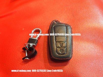 กระเป๋ากุญแจหนังดำด้ายแดงตรงรุ่น Toyota CH-R