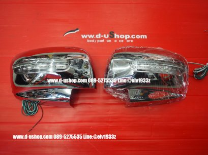 Chromium Side Mirror Cover With Turn Signal For Pajero Sport.