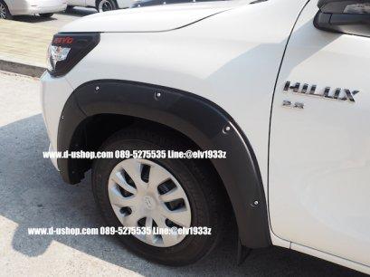 คิ้วล้อดำด้านแบบหมุด Toyota REVO 2015 ตรงรุ่นหัวเดี่ยวตอนเดียว