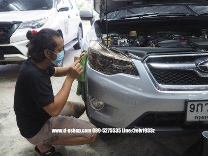 Subaru XV หุ้มฟิล์มไฟหน้าสีชา