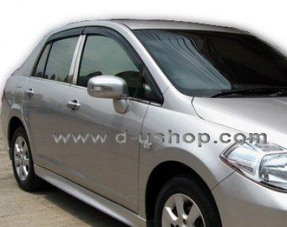 กันสาด Nissan Tiida 06 (5ประตู สีดำ)