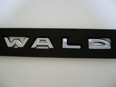 Logo WALD ติดฝากระโปรง โครเมียมตัวแยก