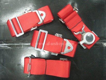 สาย Belt นิรภัยแบบ 4 จุด สีแดงโลโก้ BRIDE