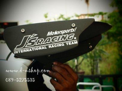 สปอยเลอร์หลังทรง JS Racing ชิ้นงานดำด้าน  Jazz 03-06
