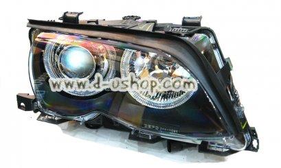 โคมไฟหน้าโปรเจคเตอร์พร้อมวงแหวน BMW E46 รุ่นไฟยก