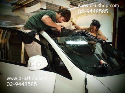 Wrap หลังคาแก้ว ด้วยสติกเกอร์พิเศษ Toyota Alphard