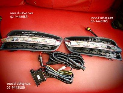 ชุดไฟ Daylight Running Time LED เม็ดใหญ่ แบบเต็ม Fog Lamp Nissan Teana 2011