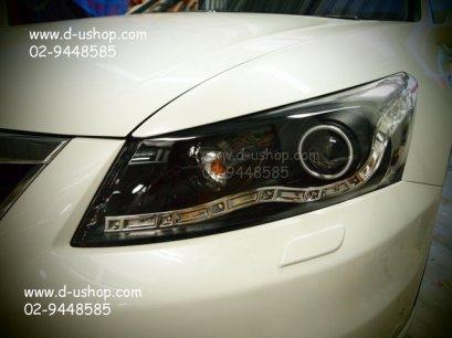 โคมไฟหน้า Projector สำหรับ Honda Accord ทรง Audi ปี 2011-2012