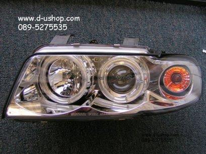 โคมขาวไฟหน้าโปรเจคเตอร์CCFL Audi A4 (95-98)