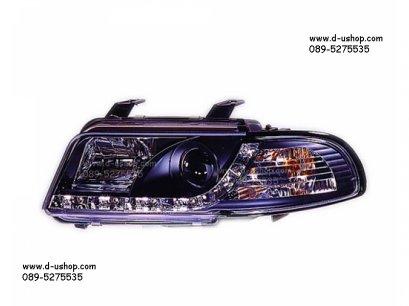 โคมดำไฟหน้าโปรเจคเตอร์ LED Audi A4 (95-98)