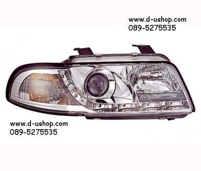 โคมขาวไฟหน้าโปรเจคเตอร์ LED Audi A4 (95-98)