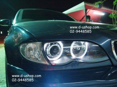 โคมไฟหน้าโปรเจคเตอร์พร้อมวงแหวน BMW E46 รุ่นไฟยก Sonar