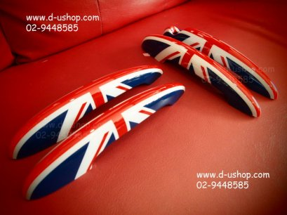 ครอบมือจับประตูลายธงชาติอังกฤษแดงน้ำเงินออริจินัล Mini Country Man
