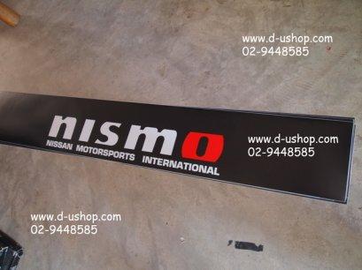 สติกเกอร์คาดหน้ารถ โลโก้ Nismo ดำแดงสำหรับรถทุกรุ่น