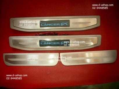 กาบบันไดสแตนเลสมีไฟแสงสีฟ้า Mitsubishi Lancer EX 2009-2012
