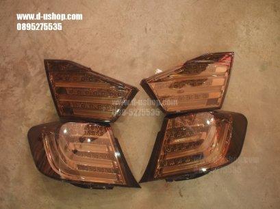 โคมไฟท้าย Smoke LED Toyota Camry New 2012 สไตล์ BMW Series 7