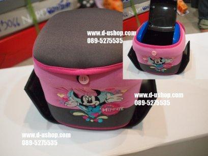 ถังขยะอเนกประสงค์ลายมินนี่ เม้าส์ สีชมพูหวาน (Minnie Mouse)สำหรับรถทุกรุ่น
