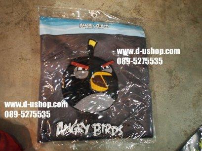 ผ้าคลุมเบาะ ลาย Angry Bird สีเทาดำ สำหรับรถทุกรุ่น