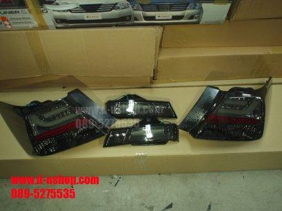 โคมไฟท้าย Smoke LED Honda Accord 2008-2012 สไตล์ BMW V.2