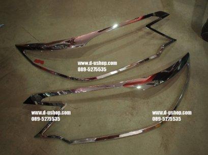 ครอบไฟหน้าโครเมียมตรงรุ่น Honda CRV All New 2012 แบบบาง