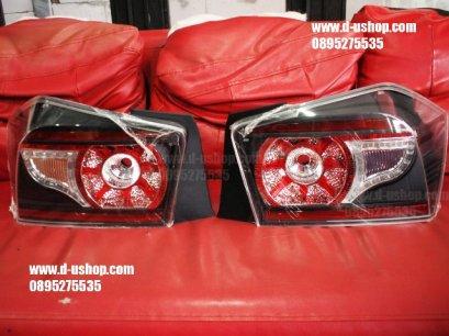 โคมไฟท้าย หน้ามืดLED Honda City 08-2013