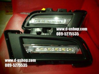 ชุดไฟ Daylight Running Time LED ตรงรุ่นพร้อมเบ้า Mazda3 All New 2012-13