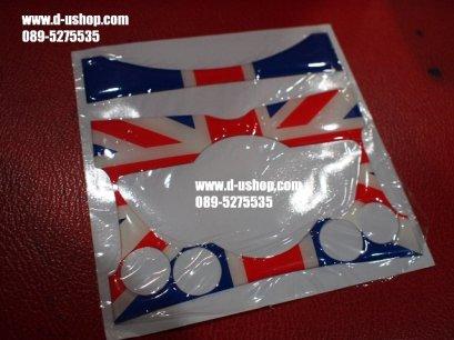 แผ่นปิดหน้าปัดวิทยุลายธงชาติอังกฤษ สำหรับ Mini ทุกรุ่น ลายออริจินัลน้ำเงินแดง