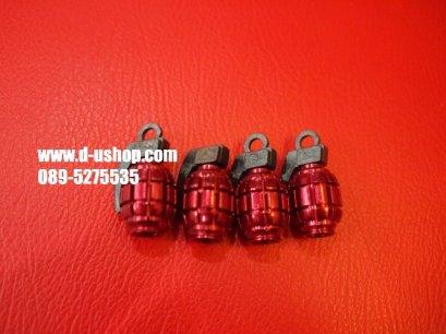 จุกลมล้อโลโก้ลายระเบิดสีแดง สำหรับรถทุกรุ่น