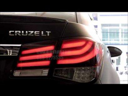 โคมไฟท้าย แดงดำ LED ตรงรุ่น Chevrolet Cruze สไตล์ BMW series 7