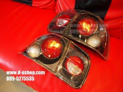 โคมไฟท้าย พื้นเคฟล่า Honda Civic 96