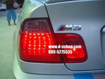 โคมไฟท้ายแดงดำ LED ตรงรุ่น BMW E46