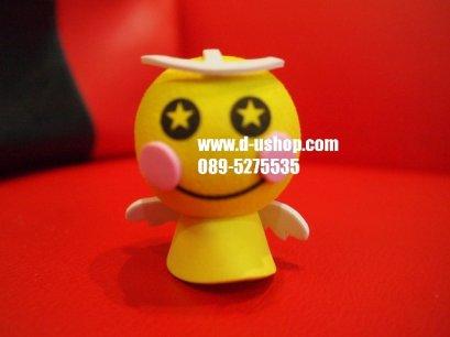 ตุ๊กตาเสียบเสาอากาศ ตุ๊กตาไล่ฝนสีเหลือง สำหรับรถทุกรุ่น