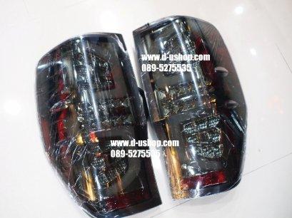 โคมไฟท้าย Smoke LED ตรงรุ่น Ford Ranger All New 2013