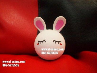 ตุ๊กตาเสียบเสาอากาศ กระต่ายขาวหูชมพู สำหรับรถทุกรุ่น