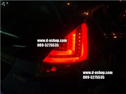 โคมไฟท้าย Smoke LED ตรงรุ่นFord Fiesta สไตล์ BMW