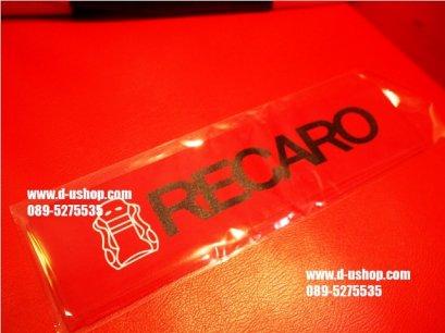 ผ้าคาดหัวเบาะ RECAROพื้นแดง สำหรับรถทุกรุ่น