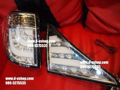 โคมไฟท้ายขาว LED Hybrid Toyota Alphard,Vellfire สไตล์BMW