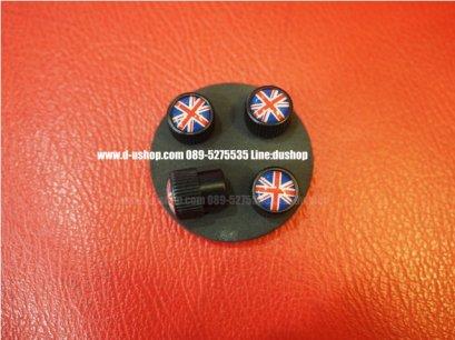 จุกลมล้อโลโก้ลายธงชาติอังกฤษออริจินัล รุ่นพื้นดำ สำหรับรถทุกรุ่น