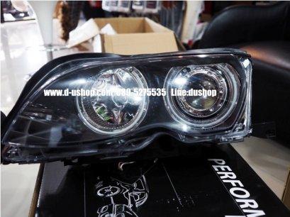 โคมไฟหน้าโปรเจคเตอร์ตรงรุ่นพื้นดำ BMW E46(Eagle Eye)