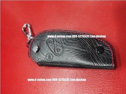 กระเป๋ากุญแจหนังดำด้ายแดงสำหรับ Honda CRV07-2011