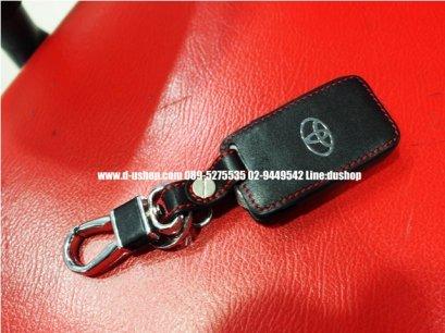 กระเป่ากุญแจหนังดำด้ายแดงตรงรุ่น Toyota Alpard 2008-2012